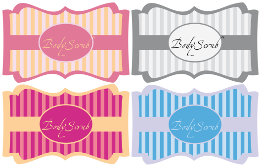 FREE printable Labels for Body Scrub « Midsommarflicka | So, it was weekend. And I was bored.