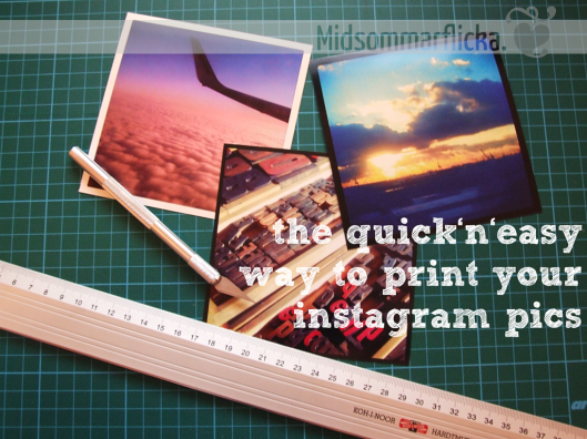 the quick'n'easy way to print your instagram pics « Midsommarflicka | So, it was weekend. And I was bored.