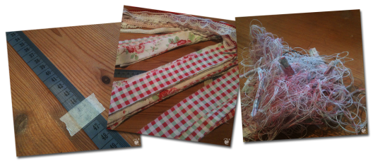 Making a Fabric / Ribbon Chandlier « Midsommarflicka | So, it was weekend. And I was bored.