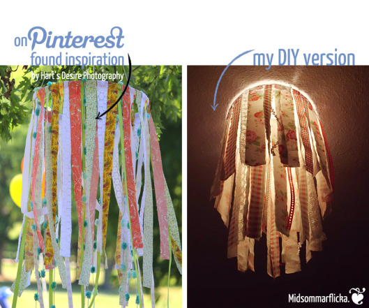 Fabric/Ribbon Chandelier built after Inspiration « Midsommarflicka | So, it was weekend. And I was bored.