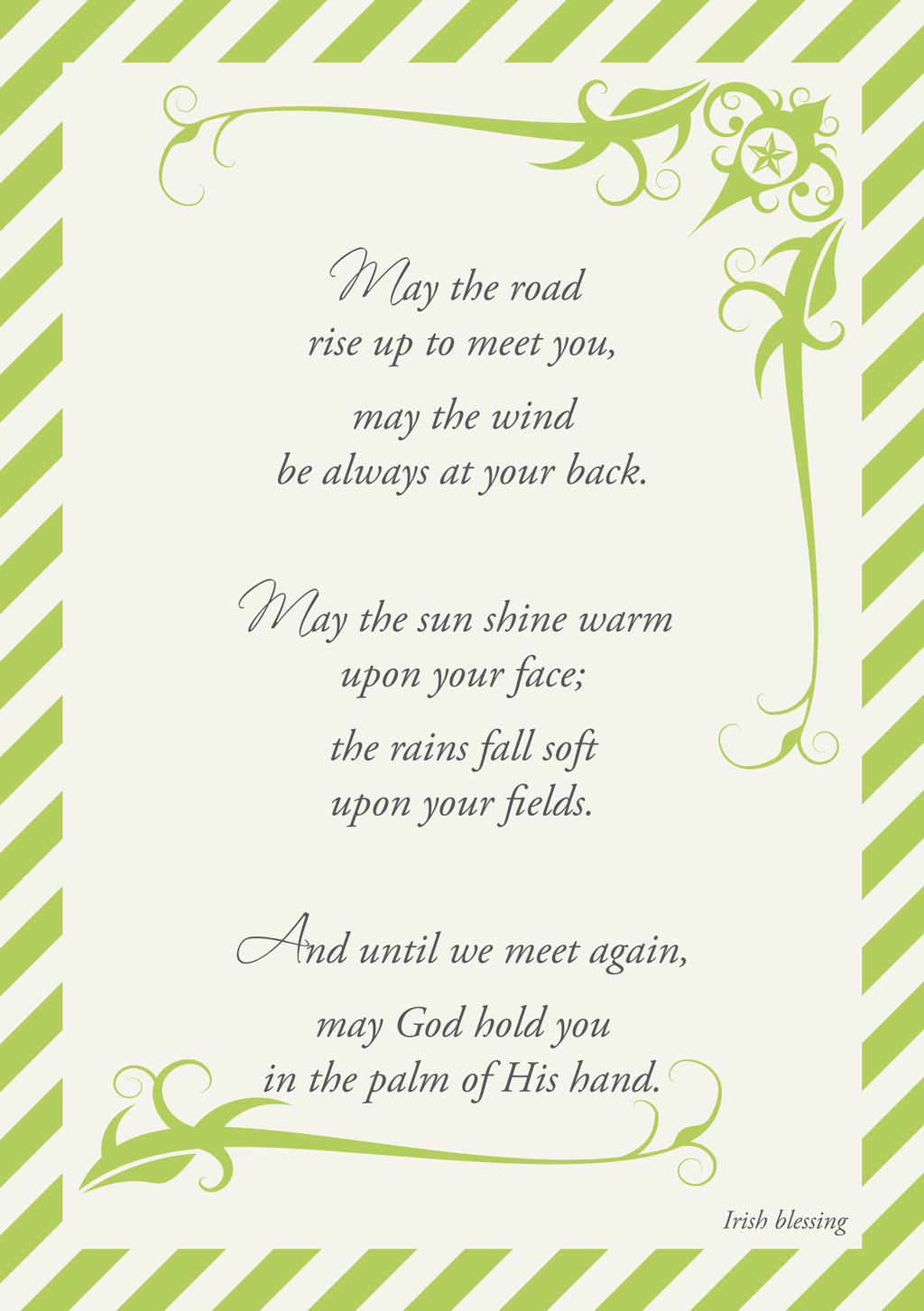 picture regarding Printable Irish Blessing called St. Patricks Irish Blessing Printable It was Weekend