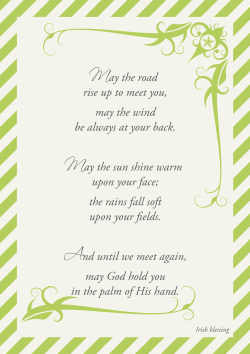 Irish Blessing Printable « Midsommarflicka | So, it was weekend. And I was bored.