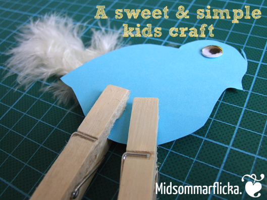 a sweet & simple kids craft « Midsommarflicka | So, it was weekend. And I was bored.