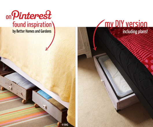 Under the bed storage built after Pinterest inspiration / for IKEA SAMLA « Midsommarflicka | So, it was weekend. And I was bored.