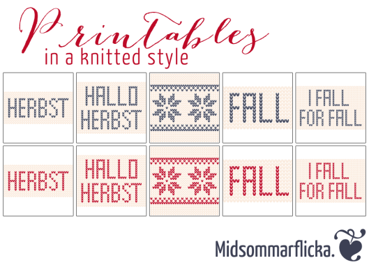 #halloherbst13 Fall Printables « Midsommarflicka | So, it was weekend. And I was bored.