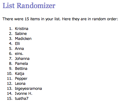 List Randomizer