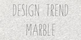 Design Trend: Marble!
